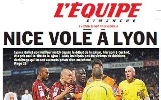 Une l'equipe Lyon Nice | ninfosman